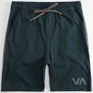 Rvca Contender Mens Sweat Shorts Midnight Blue  In Sizes