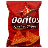 Doritos Tortilla Chips, Nacho Cheese, 1.75-Ounce Large Single Serve Bags (Pack of 64)