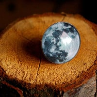 Moon - adjustable ring