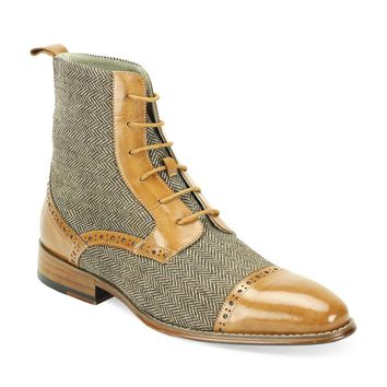Tweed Lace Boot