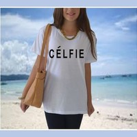 Celfie shirt women unisex t shirt Selfie Parody Celine, Men Women Celfie Shirt Inspired Vogue Hipster tumblr Blogger clothes S M L XL from CelebriTee