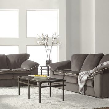 Bing Ash Contrast Sofa and Loveseat