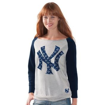 G34HER by Alyssa Milano New York Yankees Floral Away Game Fleece Sweatshirt - Women's, Size: