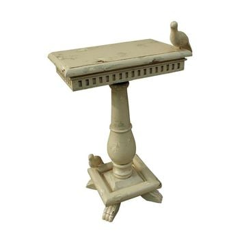 Socle Table With Birds Cream