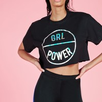 Missguided - Active GRL Power Crop T Shirt Black