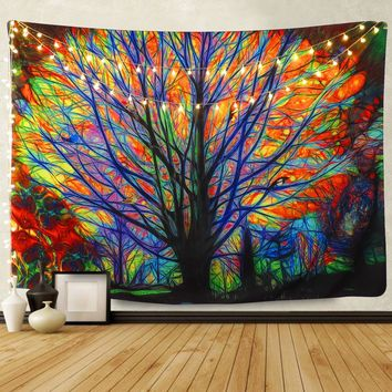 The Psychedelic Forest Boho Tapestry