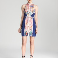 Nicole Miller Dress - High Neck Printed | Bloomingdale's