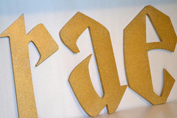 glitter gold 6 to 17 inch letters wood cut out hand painted wooden letters harry potter