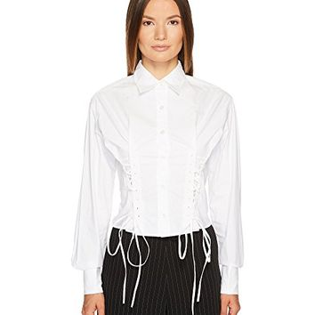 McQ Short Corset Cotton Lacing Shirt