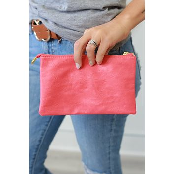 The Cosmopolitan Clutch - Hot Coral