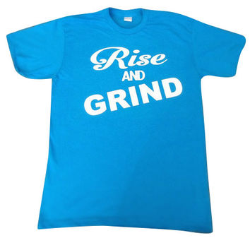 Rise and Grind - Neon T-shirt - Womens Fitness Clothing - Workout shirt - Fitness Shirt