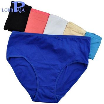 DK7G2 LOBBPAJA Brand Lot 6 pcs Woman Underwear Cotton High Waist Briefs Ladies Mothers Panties Knickers Intimates Plus Size for Women