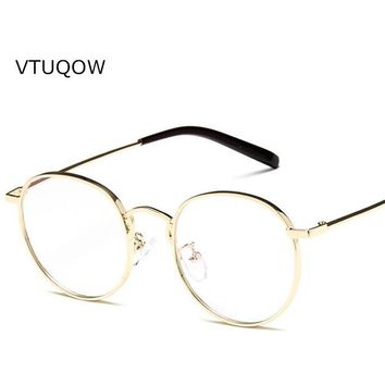 VTUQOW 2017 Women's Optical Retro Glasses Frame For Women Eyewear Eyeglasses Vintage With Clear Lens Oculos Feminino Masculino