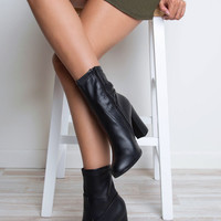 Arlo Pleather Boots - Black
