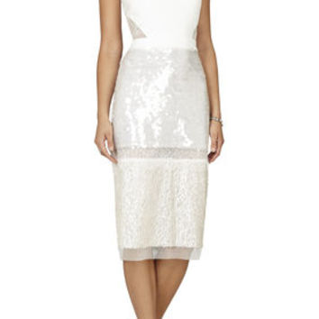 BCBG Reyna Sleeveless Fitted Cocktail Dress