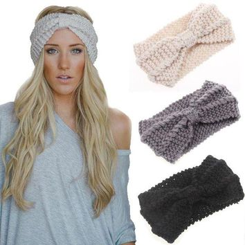 ONETOW Day-First? Women Knot Knit Headband Bow Crochet Turban Head Wrap Hair Accessories
