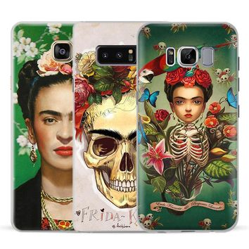 Frida Kahlo fashion painter Phone Case Cover For Samsung Galaxy S4 S5 S6 S7 Edge S8 S9 Plus Note 8 2 3 4 5 A5 A7 J5 2016 J7 2017