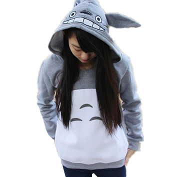 Cartoon Anime Totoro Casual Hoody Sweatshirt for Teens