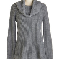 ModCloth Long Sleeve Shoreline Shortcut Sweater