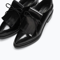 Blucher with fringes
