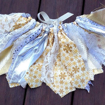 Silver And Gold tutu Snowflake tutu Christmas Tutu by LilNicks