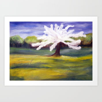 spring apple tree Art Print by AidaArt