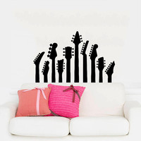 Wall Decal Vinyl Sticker Decals Art Home Decor Mural Guitar Electro Jazz Musical Instrument Guitars Recording Studio Bedroom Dorm AN151