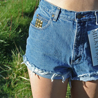 High Waisted Shorts Size 8 Studded Cutoffs Milky by ShopMilky