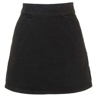 MOTO Clean-Cut Denim Mini Skirt - Topshop