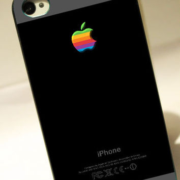 Black shades with rainbow apple logo - for iPhone 4/4S case iPhone 5 case hard case hard cover