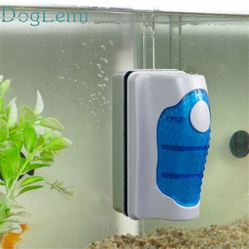 Doglemi magnetic glass cleaner brush Aquarium Fish Tank Glass Algae Scraper Cleaner Floating Curve*20 Gift Drop