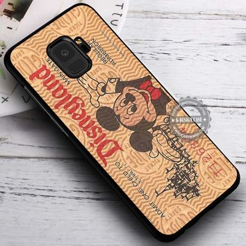 Brown Disneyland Ticket Mickey Mouse iPhone X 8 7 Plus 6s Cases Samsung Galaxy S9 S8 Plus S7 edge NOTE 8 Covers #SamsungS9 #iphoneX