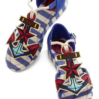 Miss L Fire Nautical Questions and Anchors Sandal