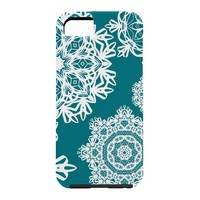 Lisa Argyropoulos Flurries on Teal Cell Phone Case