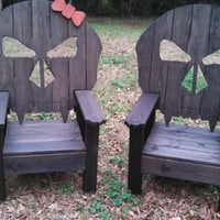 Cool Outdoor Skull Chair, Skull Throne, Outdoor Furniture, Biker