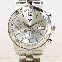 AEO Women's Silver Chronograph Watch (Silver)