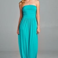 The Homecoming Strapless Knit Maxi Dress
