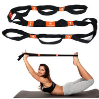 PROCIRCLE Multi-Grip Stretch Strap Yoga Exercise Flexibility Stretching Out Rope