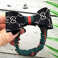 GUCCI Women Fashion New More Letter Hair Rope Accessories Black