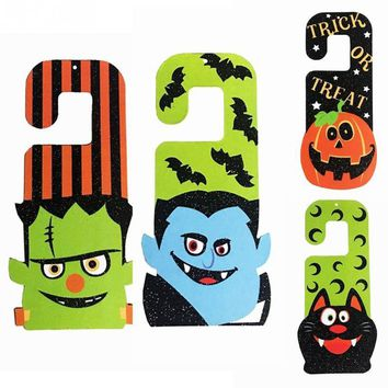 Paper Halloween Zombie Door Hanging Home Decoration Bats Ghosts Pumpkin paper pendant