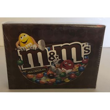 M&M's World Yellow and Red Milk Chocolate Playing Card New with Box Sealed