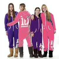 NEW GIRLS ONE DIRECTION 1D Onesuit SLEEPSUIT WINTER PJ PYJAMAS SLEEPWEAR PJS