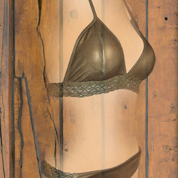 macram? bikini  gold by saravah on Etsy