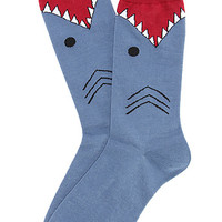 K. Bell The Shark Socks in Slate Blue : Karmaloop.com - Global Concrete Culture