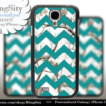 White Camo Chevron Galaxy S4 S5 case Turquoise Snow Winter Real Tree Camo Personalized Samsung Galaxy S3 Case Note 2 3 Cover