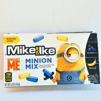 Upcycled Mike and Ike Despicable Me Minion Mix Candy Box Wallet Pouch