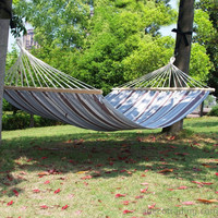 Naval-Style Cotton Fabric Canvas Hammock Tree Hanging Suspended Outdoor Indoor Bed Naval Blue Color 63 inches Wide