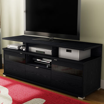 60 tv stands with swivel mount north shore stand fireplace modern black oak finish holds tall for inch flat screens