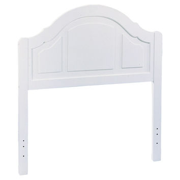Twin size Solid Wood Arch Panel Headboard in White Finish