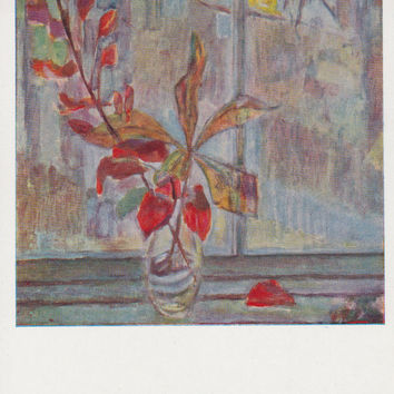 "A. Stepanov (Still Life ""Autumn"") Postcard -- 1968"
